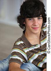 Portrait of teenage