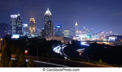 Downtown Atlanta - Time Lapse of downtown Atlanta, Georgia,...