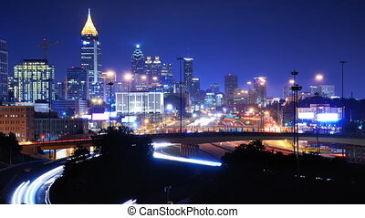 Downtown Atlanta, Geo - Time Lapse of downtown Atlanta,...