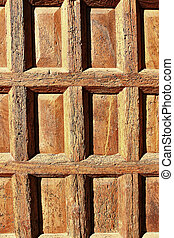 old wooden door in front of a house
