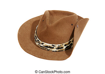 Australian or american cowboy hat - Traditional wild west...