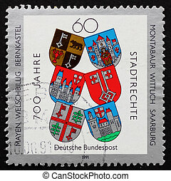 Postage stamp Germany 1991 Town Charters - GERMANY - CIRCA...