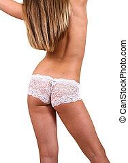 Underwear  - Girl in underwear on white background