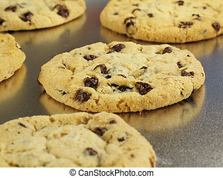 Fresh Baked Cookies - Chocolate chip cookies, warm and gooey...