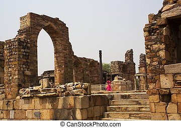 Indian Girl Minar Ruins