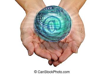 E-Commerce - World E-Commerce in hand.