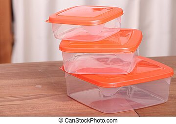 Three hermetic food boxes