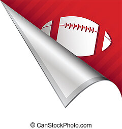 Football corner tab - Football sports icon on vector peeled...