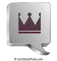Crown icon on steel bubble
