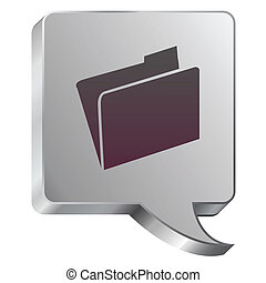 File icon on steel bubble