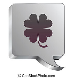 Clover icon on steel bubble