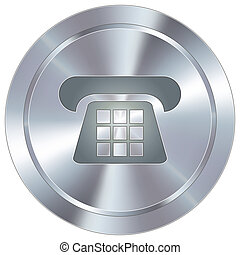Telephone icon on industrial button