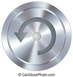Refresh icon on industrial button - Computer refresh icon on...
