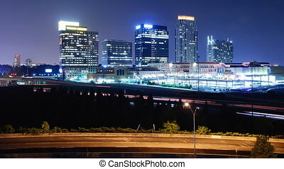 Downtown Atlanta, Georgia - Time lapse of downtown atlanta,...