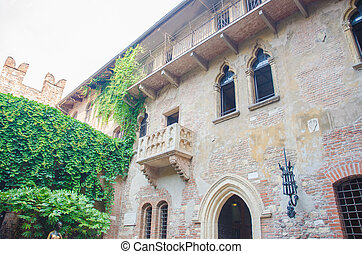 Famous Juliet balcony in Verona