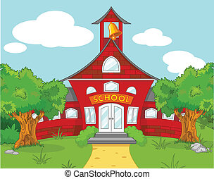 School landscape - Illustration of school landscape