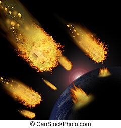 """meteoryt, piłka nożna, """"Elements, to, wizerunek,..."""