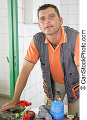 An experienced tradesman