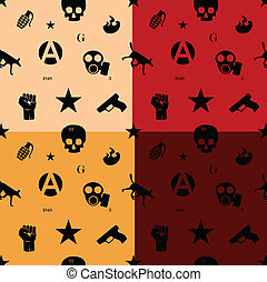 Protest seamless pattern in colors Easy change colors in...