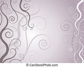 Swirls and curls - Decorative background with swirls and...
