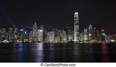 hongkong night sence