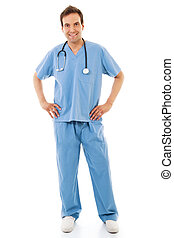 Male Healthcare Worker - Stock image of male healthcare...