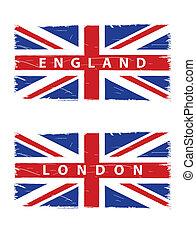 grunge Union Jack flags