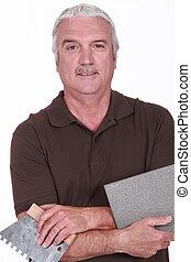 Portrait of a tiler