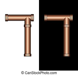 Copper Tubing Fittings 3D Number 7