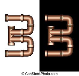Copper Tubing Fittings 3D Number 3