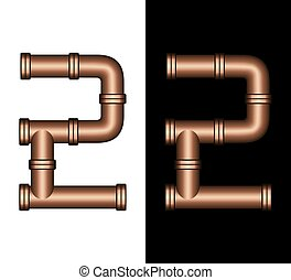 Copper Tubing Fittings 3D Number 2