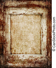 Vintage Wooden Frame - Vintage wooden frame with empty space...