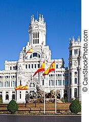 Cibeles Fountain and Palacio de Comunicaciones, Madrid