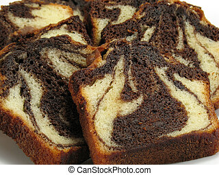 Chocolate Marble Cake - Slices of moist chocolate marble...