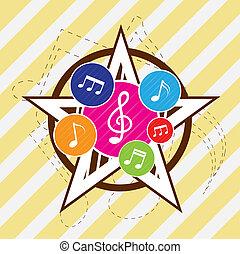 Star music festival background