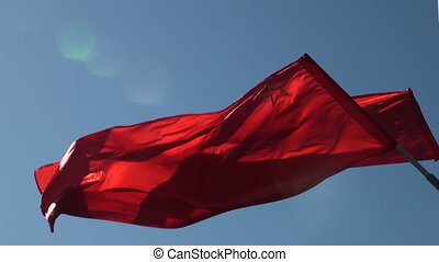 The red flag in the wind