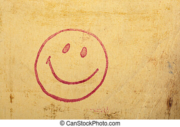 Happy face stamp - Photo of a vintage happy face stamp on...