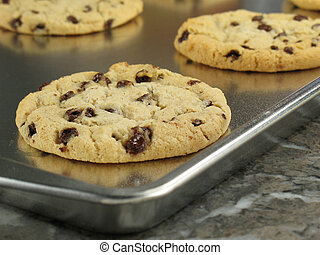 Hot Out of the Oven - Chocolate chip cookies, warm and gooey...