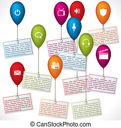 Infographic design with color ballons