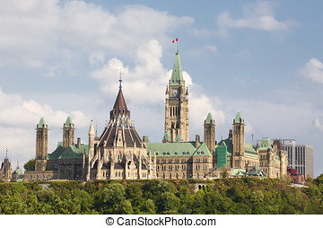 Parliament Buildings in Ottawa Ontario - A view of the...