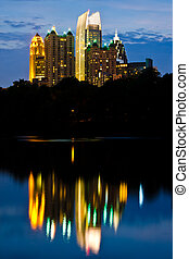 Atlanta midtown skyline - Cityscape view of midtown Atlanta...
