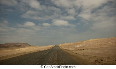 On-board-Cam in Desert, Paracas, Peru