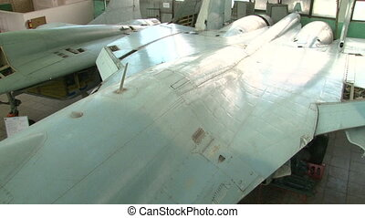 The organization and mechanisms of a combat aircraft