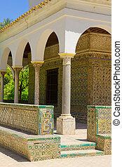 Pavilhão, Carlos, V, Alcazar, Sevilha, Espanha