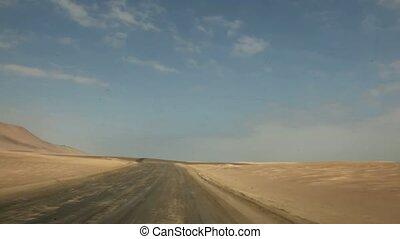 Driving in Desert, Peru