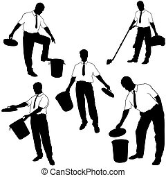 Move to trash - Business Silhouettes 28 - Move to trash -...