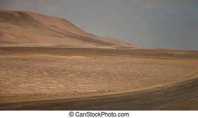 desert paracas - Peru - video footage of a desert in the...