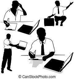 Working businessman