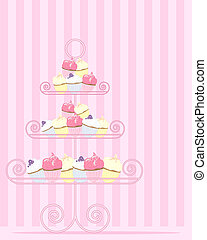 cake stand - an illustration of a stylized cake stand with a...