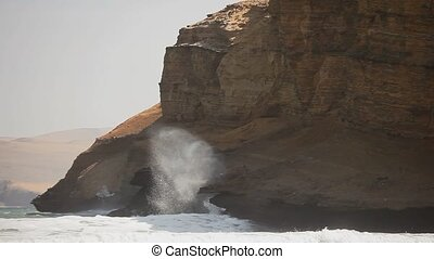 Wave Breaking at Cliffs